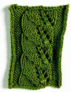 "Knitting a Leaf ""Why are leaf motifs so popular? For one ..."