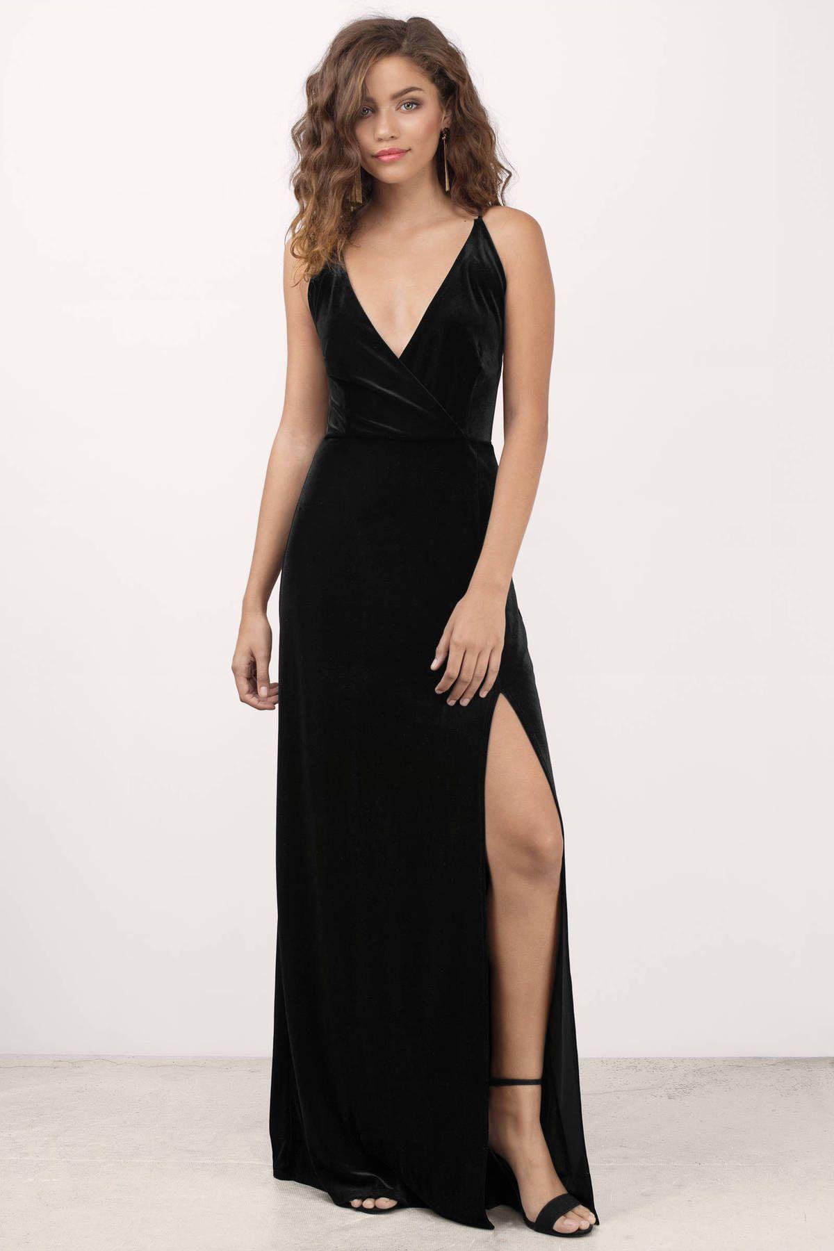Maxi Velvet dress pictures