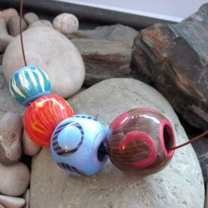 polymer clay DIY handmade beads