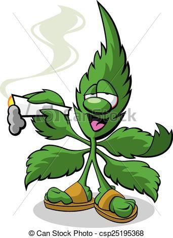 marijuana mascot - a vector cartoon of a marijuana leaf. | 卡通形象