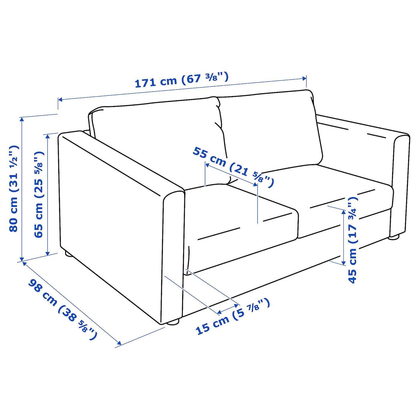 Ikea Vimle 2er Sofa Grann Bomstad Schwarz In 2020 2er Sofa Farsta Holzsofa