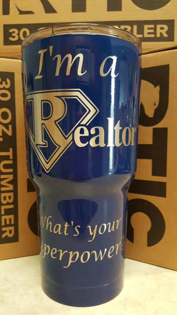 35ae3fbb8fa 30oz Realtor tumbler $35 (20oz available for $32). Personalize with your  name for free #tumbler #yeti #rtic #personalized #advertise #realtor # business # ...