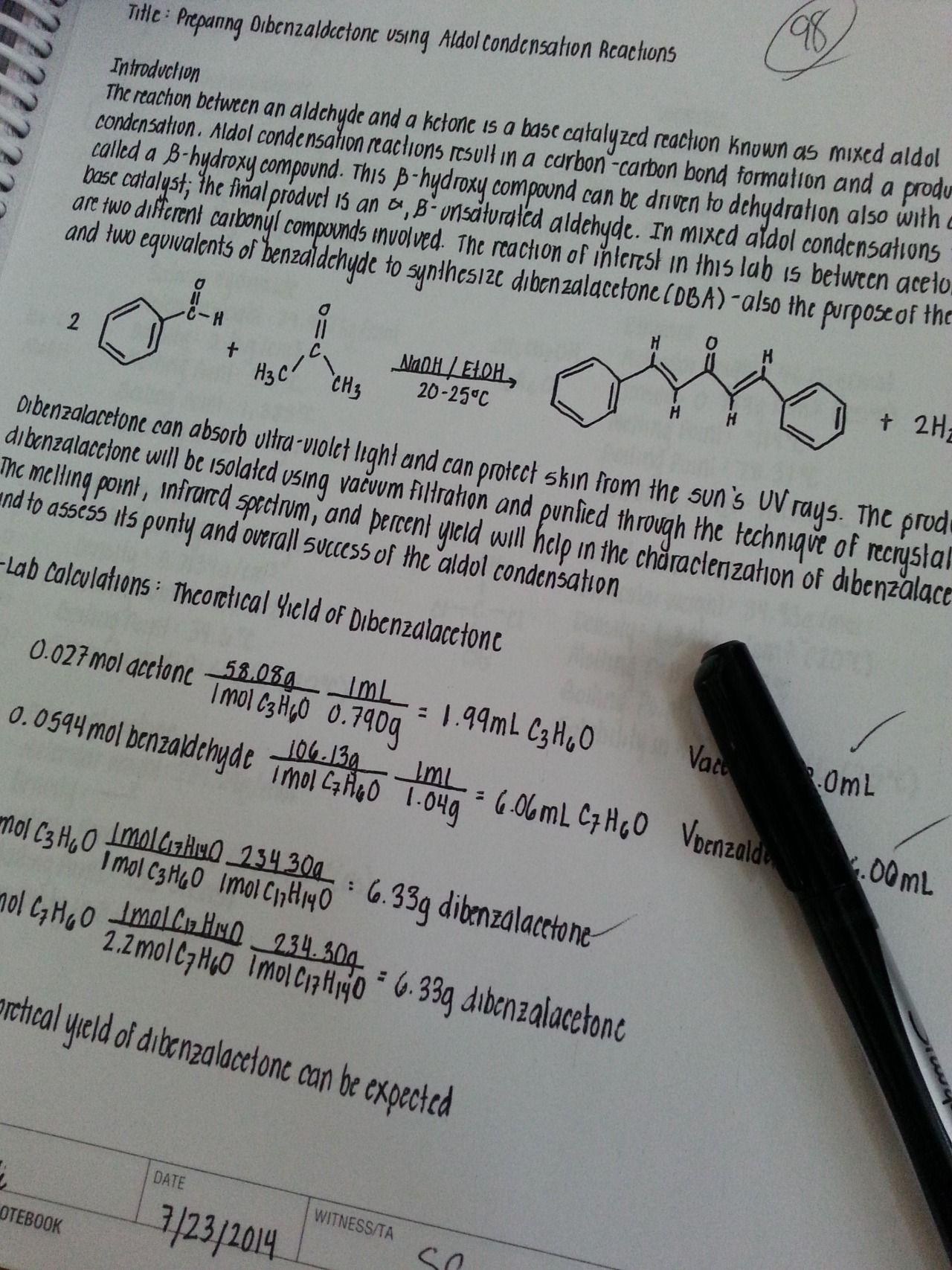 Custom chemistry write ups