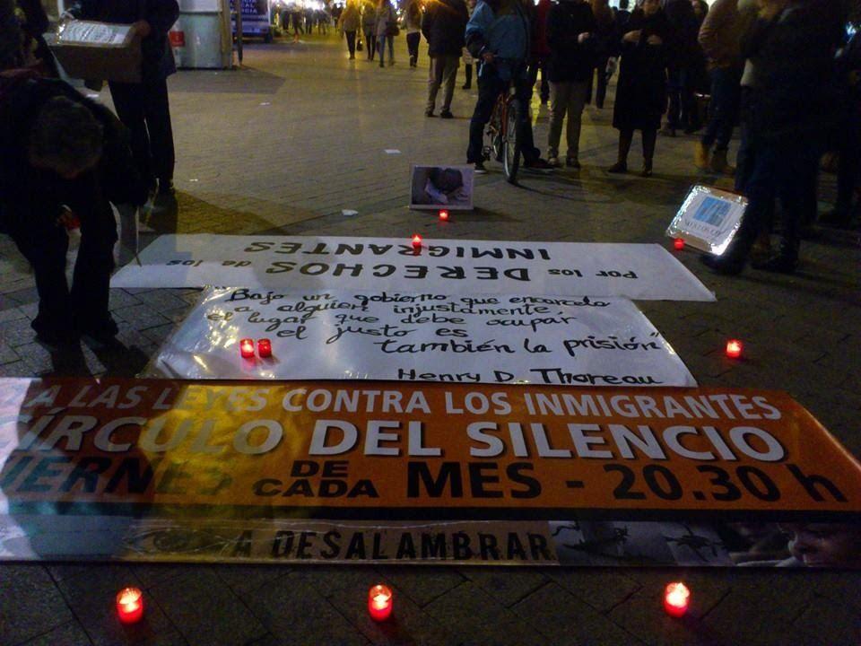 Círculo de Silencio en Murcia por los derechos de las personas migrantes