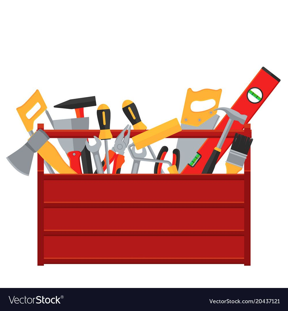 Repair And Construction Tools Vector Concept Illustration Of