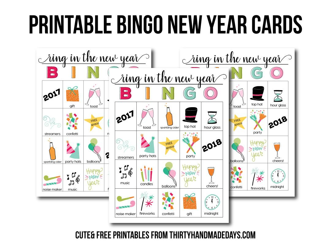 BINGO New Year Printables New year printables, New year