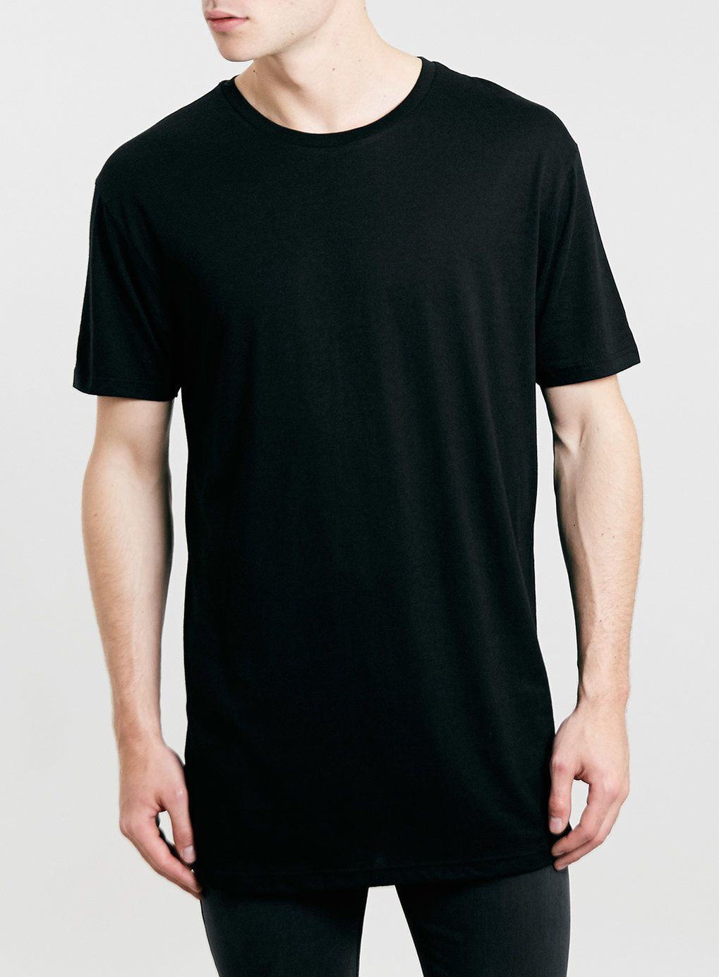 Black oversized long line t-shirt | Shirts, Products and T shirts