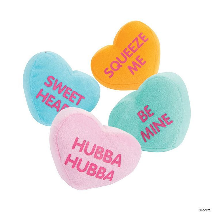 Plush Conversation Hearts In 2021 Converse With Heart Valentines Conversation Hearts Heart Candy
