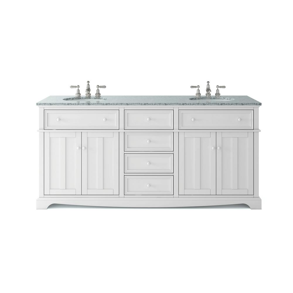 Home Decorators Collection Fremont 72 in. W x 22 in. D Double Bath