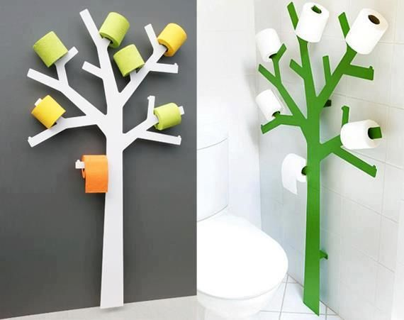 Tree toilet roll holder