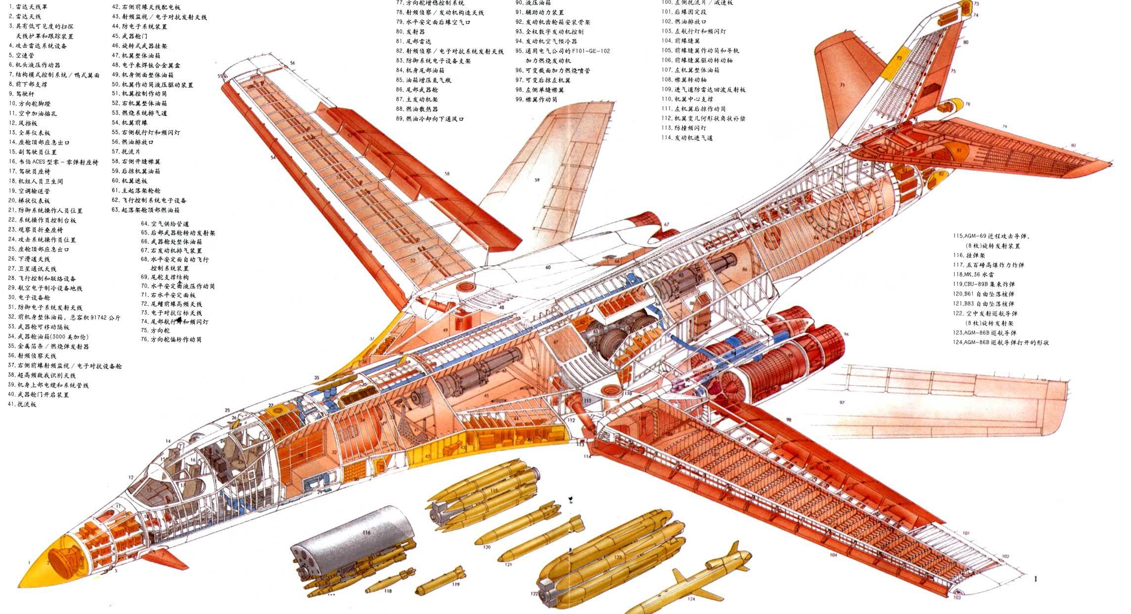 B 1 Lancer Blueprints Pinterest Cutaway Aircraft