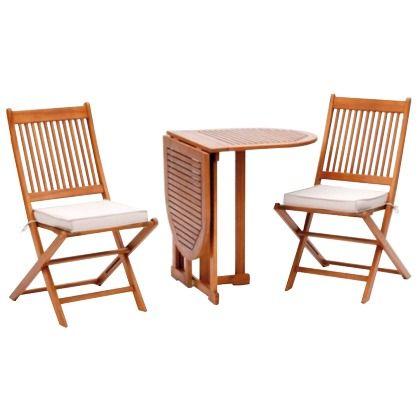 schlichtes balkon set mit tisch und zwei st hlen das sich super f r einen grillabend eignet. Black Bedroom Furniture Sets. Home Design Ideas