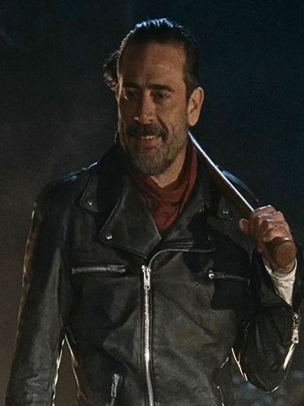 7edd866ff The Walking Dead Negan Black Leather Jacket | Celebrity Leather ...