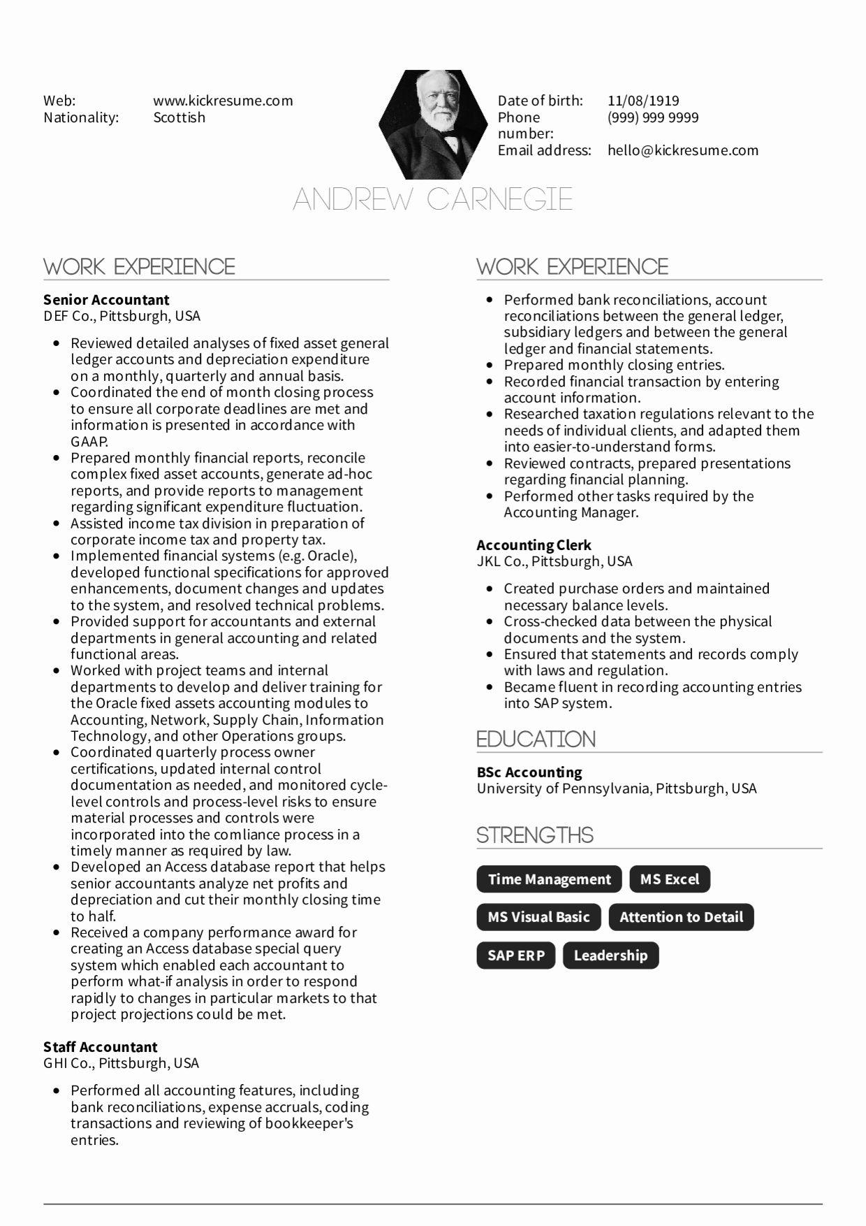 Senior accountant resume sample fresh resume examples by