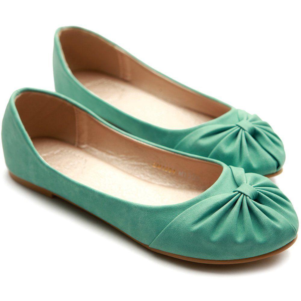 Amazon.com: Ollio Women's Ballet Shoe Comfy Cute Bow Down