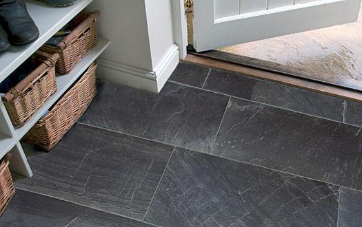 Dark Grey Slate Tile Rectangular Google Search Flooring Tile