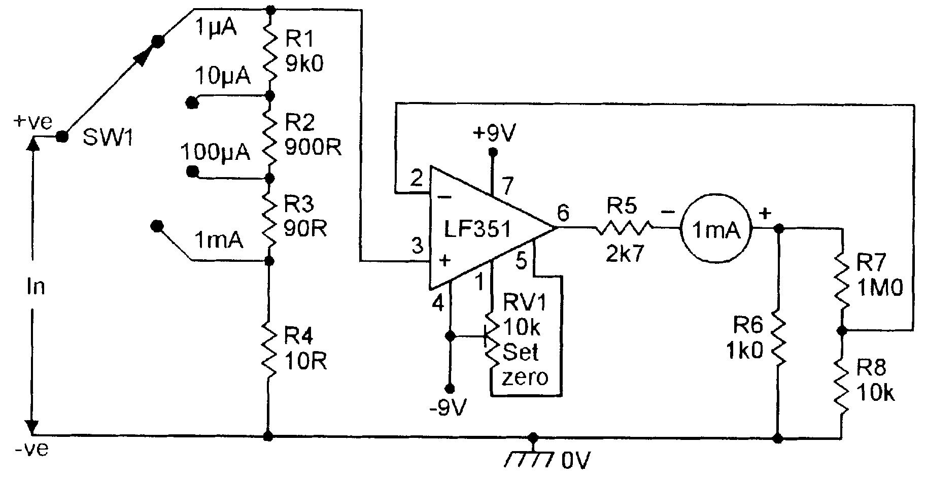 Four Range Dc Microammeter