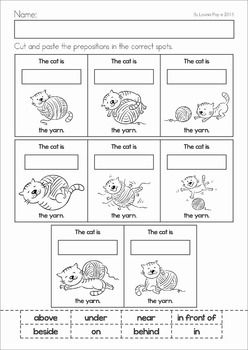 Prepositions With Images Preposition Worksheets Kindergarten