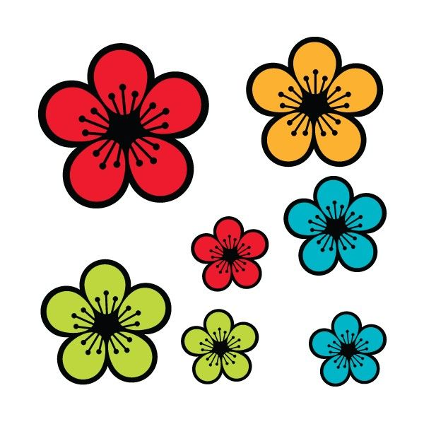Dessin en couleurs imprimer nature fleurs num ro - Fleur simple dessin ...