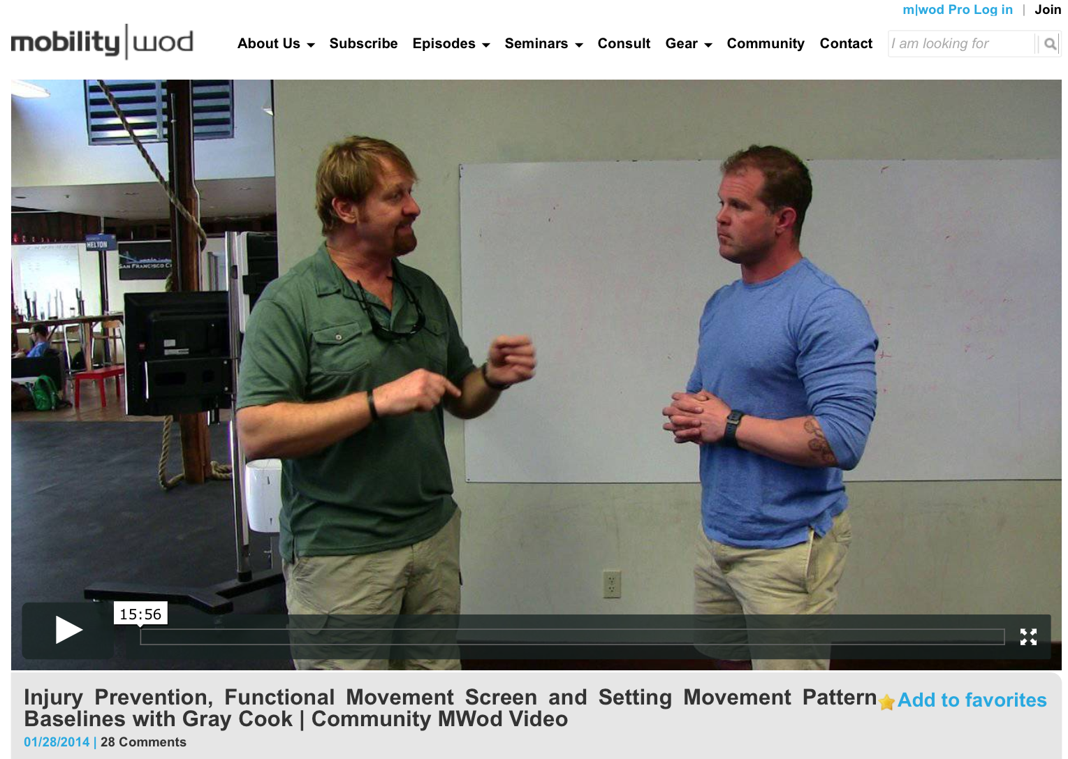 Gray Cook And Kelly Starrett Team Up To Discuss Movement Pattern