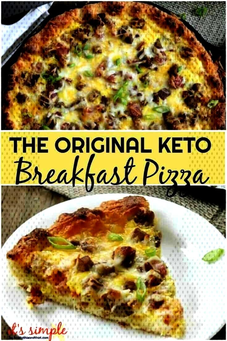 Pizza - Meat Lover Style! Only 1.7 NET CARB per slice - LoverStyle - -Keto Breakfast Pizza - Meat L