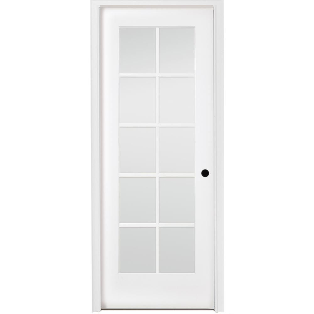 Steves Sons 30 In X 80 In 10 Lite French Unfinished Pine Left Hand Solid Core Wood Single Prehung Interior Door With Nickel Hinge M64n2nnnlllhn The Home D Prehung Interior Doors