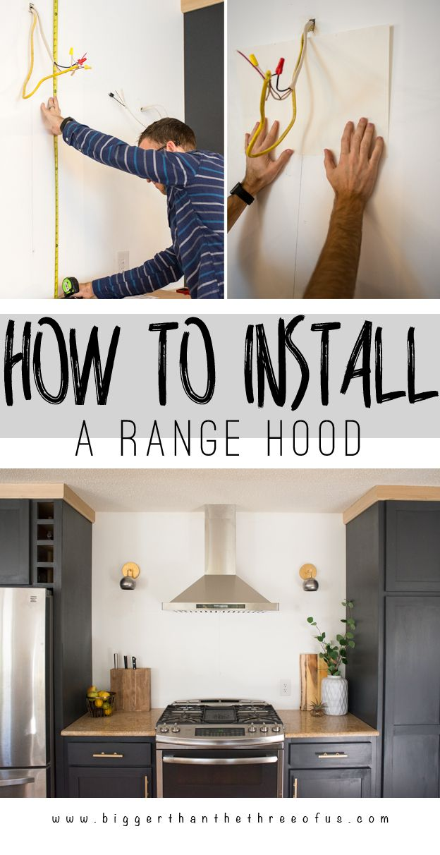How To Install A Ventless Ductless Rangehood Kitchen Range Hood Ductless Range Hood Range Hood Vent
