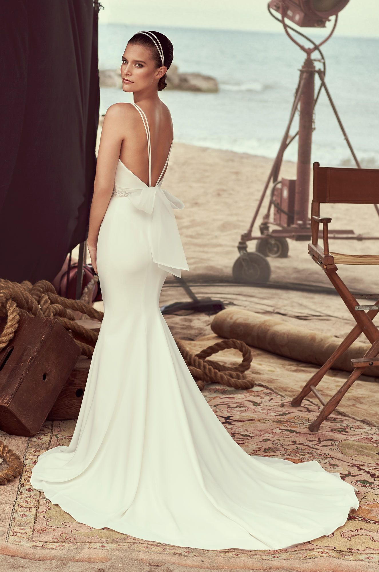 Bateau neckline wedding dress style pinterest mikaella