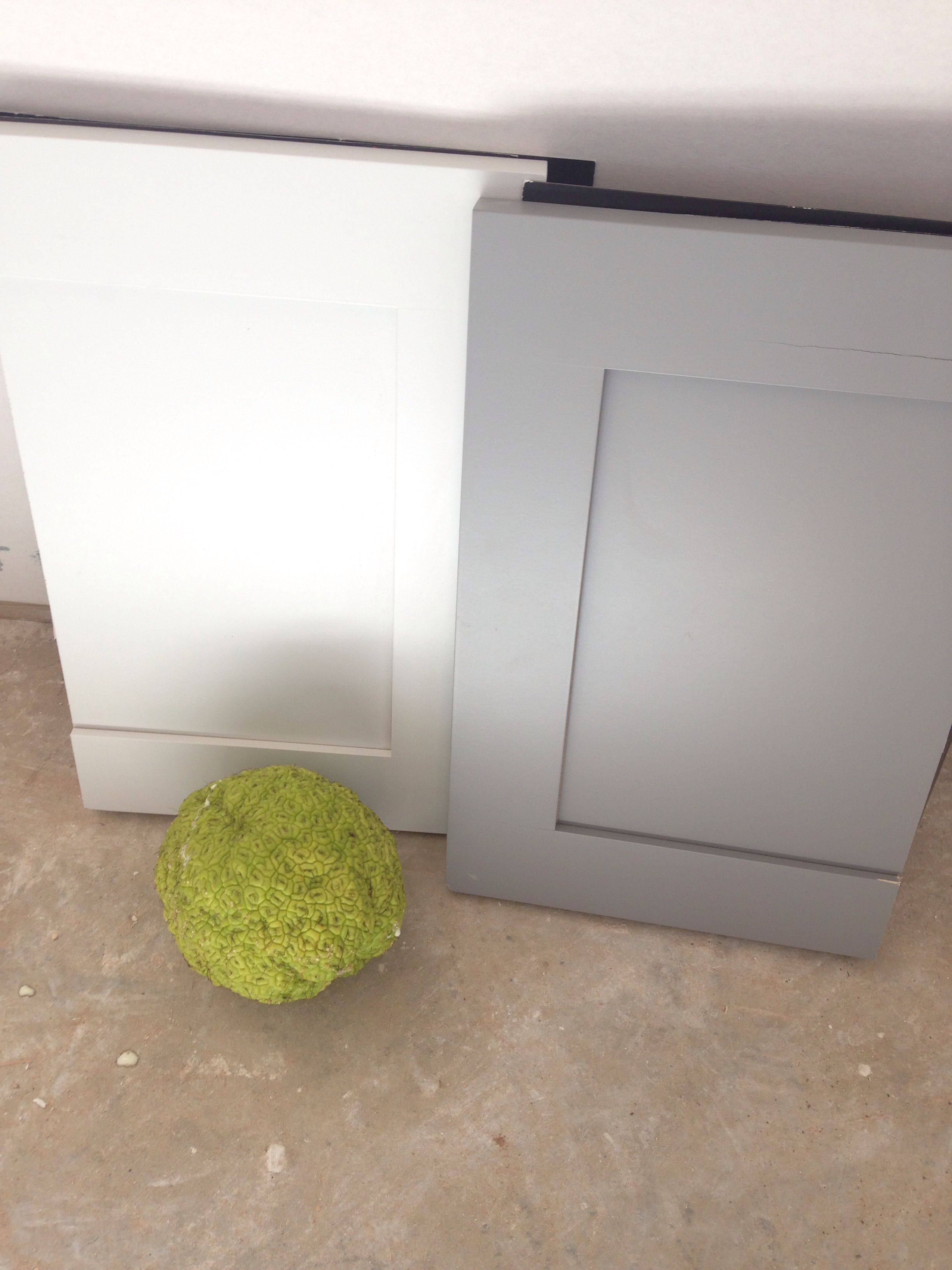 Sherwin Williams Fleur De Sel And Summit Gray Gray Cabinet Color Rustic Kitchen Backsplash Grey Kitchen Island