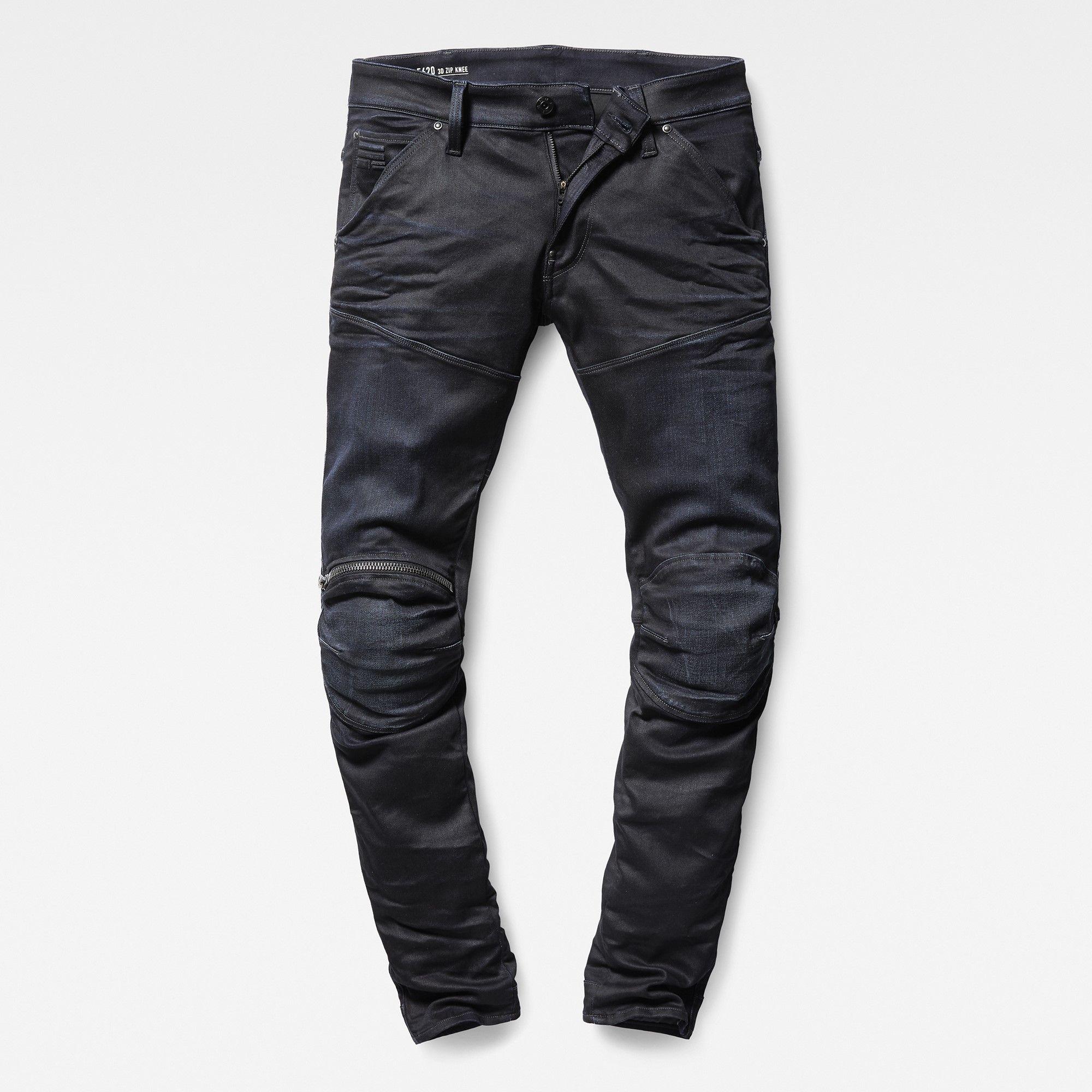 a5edb1877702 5620 G-Star Elwood 3D Zip Knee Super Slim Jeans in 2019