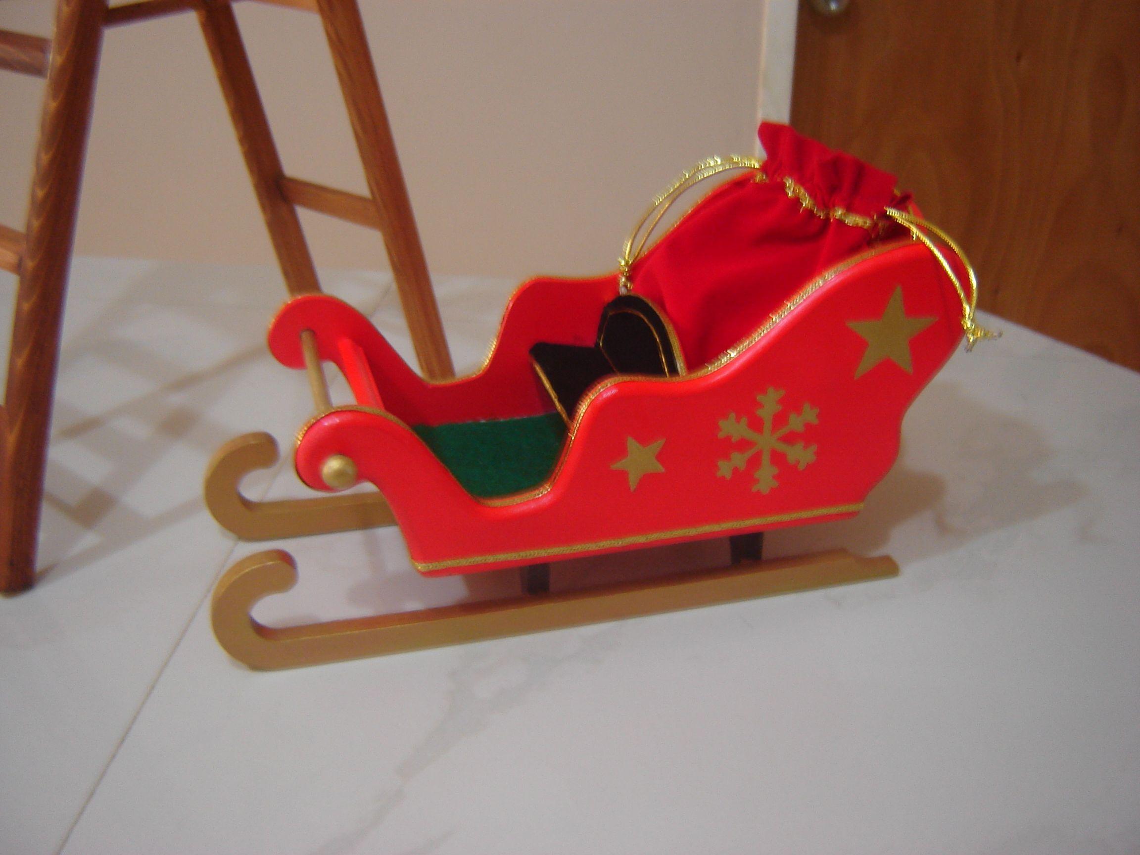 Trineo elaborado en mdf producto 100 artesanal mis for Trineo madera decoracion