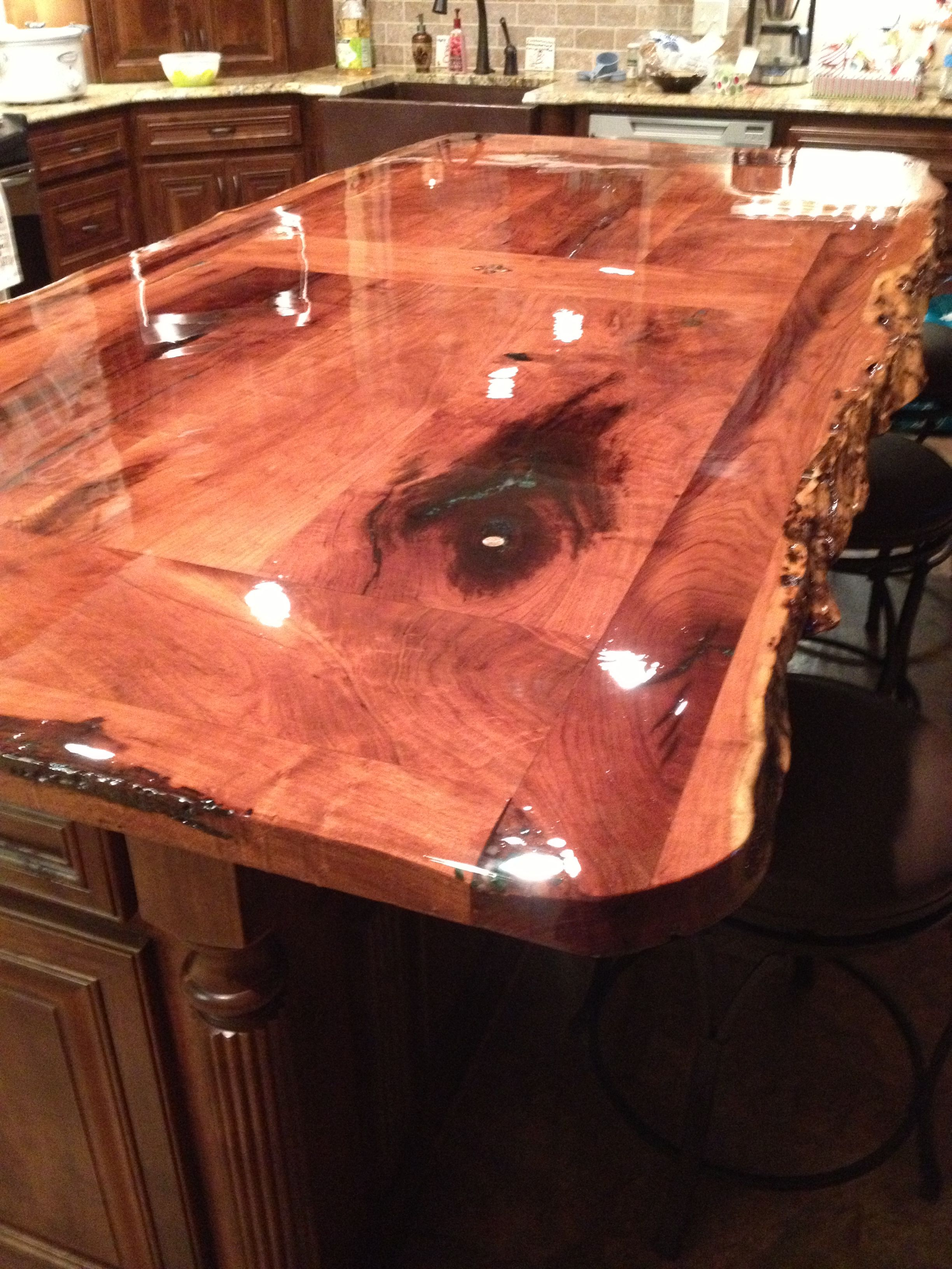 Our Countertop Bar. Found The Mesquite Wood At A Mill In East Texas. Inlaid