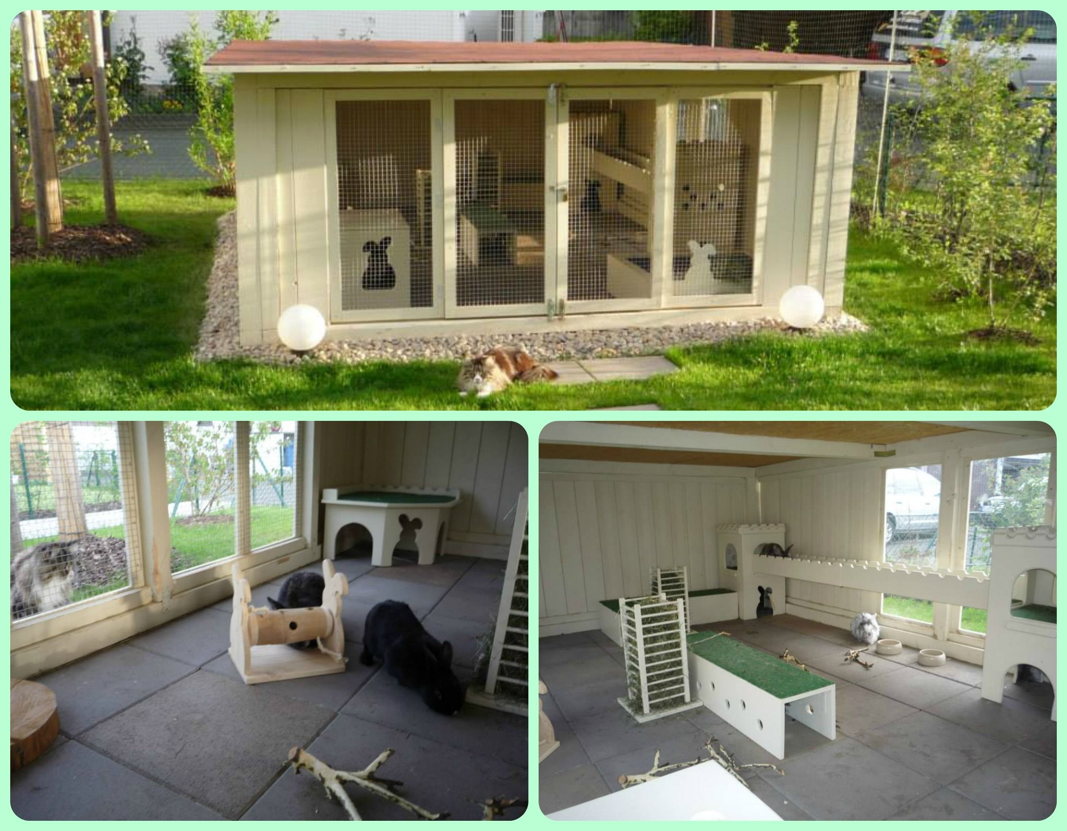 outdoor rabbit hutch enclosure u0026 safe outdoor cat fencing net