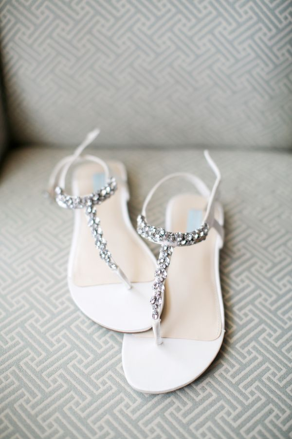 2f54093d9a625 white sandals with silver beads can be a sparkling accent White Wedding  Sandals