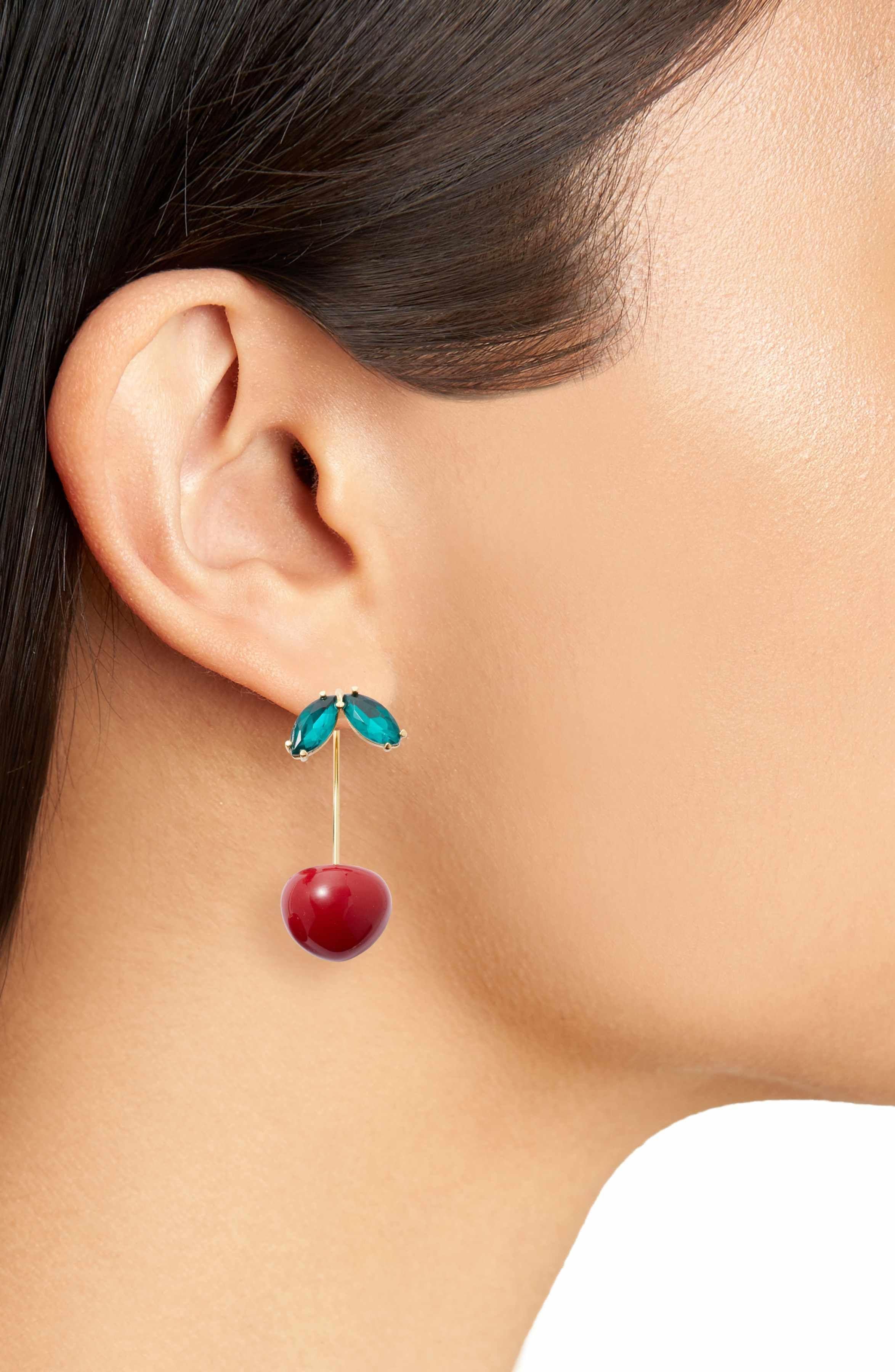 3adc1dcbeb635 Main Image - kate spade new york ma cherie cherry threader earrings ...