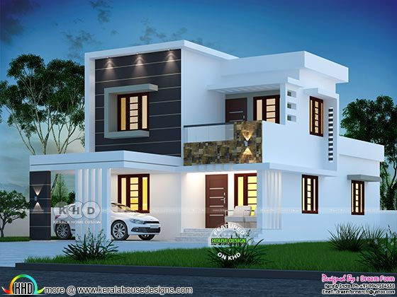 1580 Sq Ft 4 Bedroom Modern House Plan Kerala House Design Duplex House Design Model House Plan