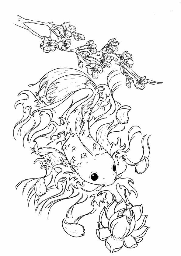 25 Interesting Koi Fish Coloring Pages For Your Toddlers ...