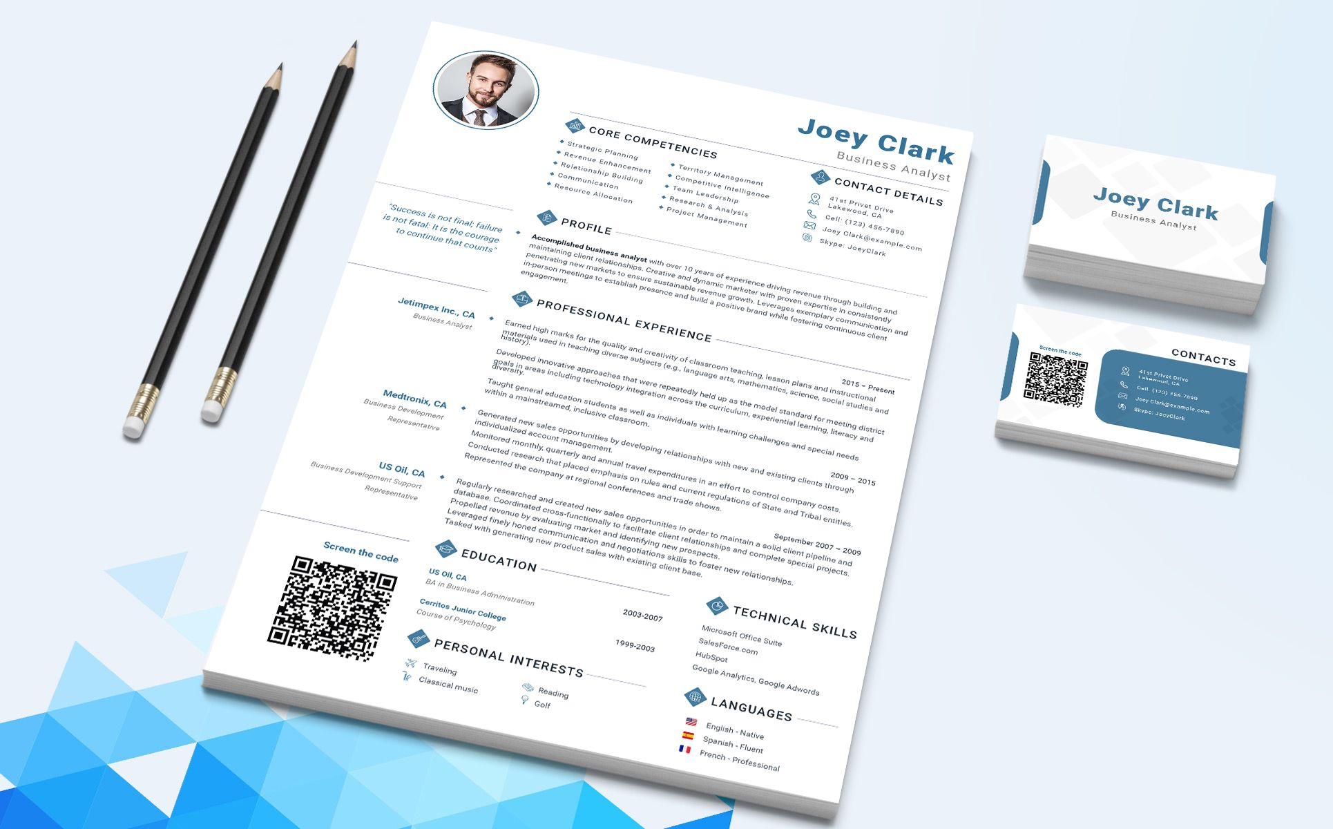 Joey clark business analyst and financial consultant