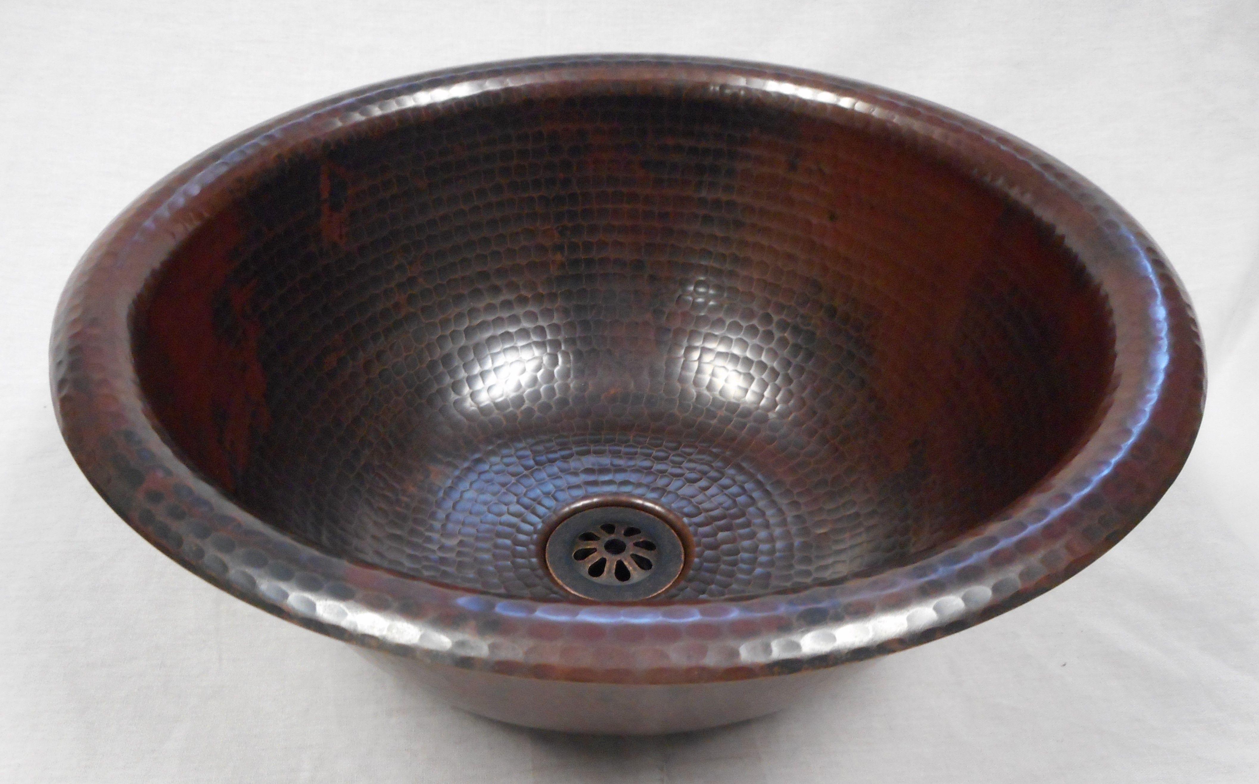 14 Round Copper Bath Wine Whiskey Barrel Sink Sink Small