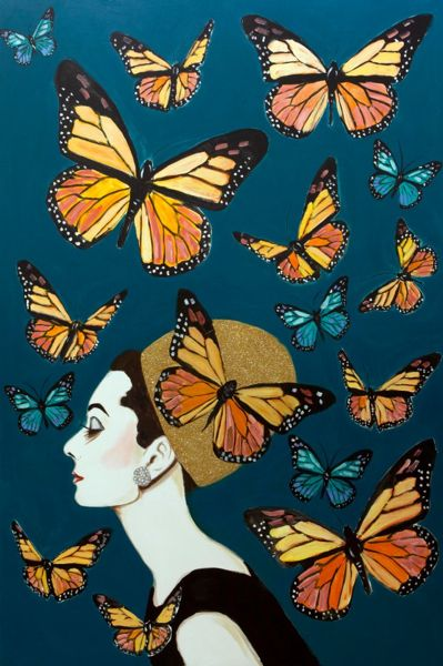 New Orleans  The Dlb  Art, New Orleans Art, Butterfly Art-1757