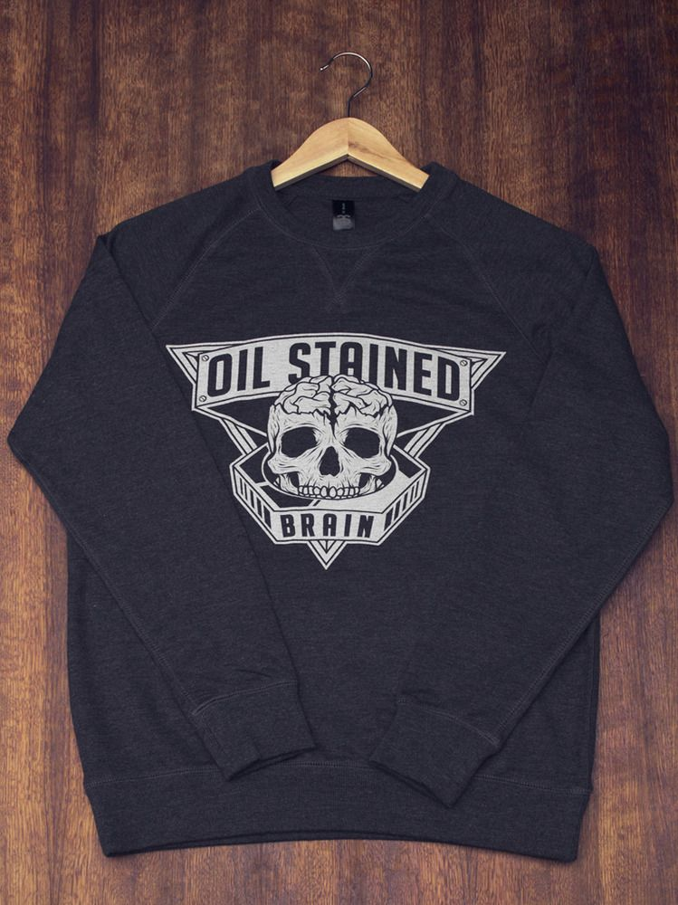 Oil Stained Brain logo sweater Oil stains, Brain logo