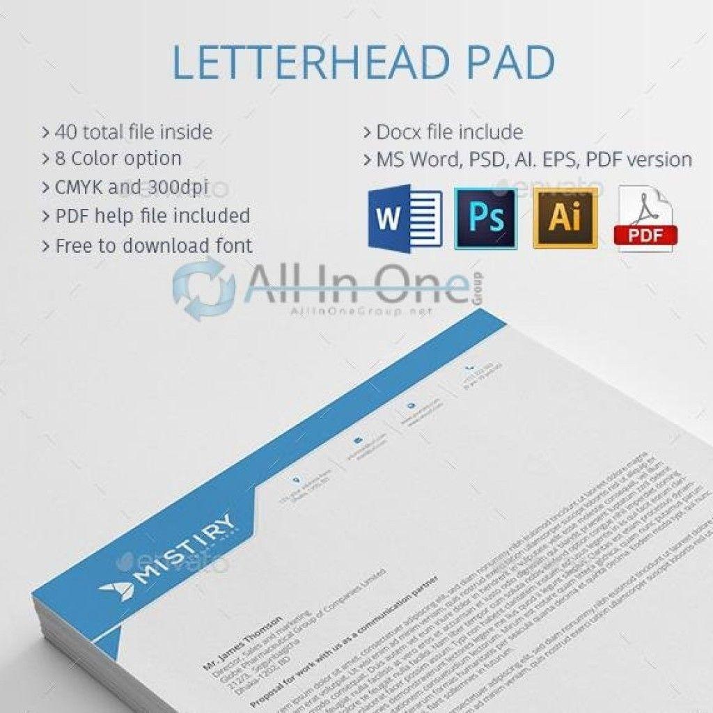 Letterhead Pad (PSD AI EPS MS Word PDF) (Free Download