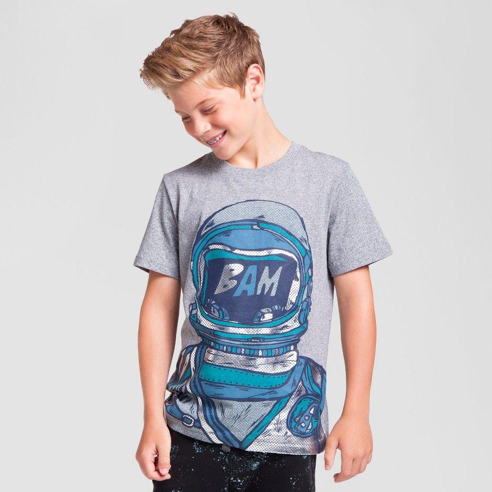 Boys' Astronaut Graphic T-Shirt Cat & Jack Heather Gray Xxl, Boy's