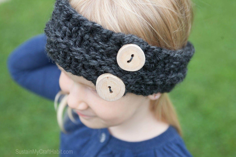 Childus Easy Knitted Headband Pattern  Children s Headband pattern