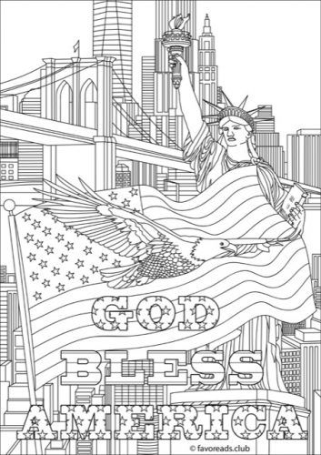 Free Printable Fourth Of July Coloring Pages Drawings