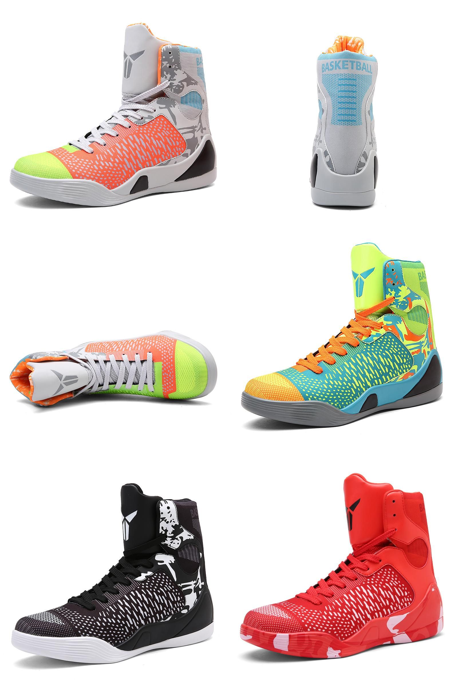 bace0b8d0a7  Visit to Buy  Mens Basketball Sneakers High Top Basketball Shoes For Men  Black