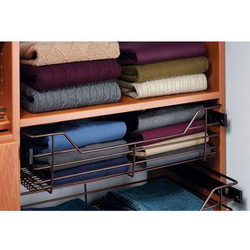 Hafele Closet Storage Baskets With Slides   Sold Individually |  KitchenSource.com
