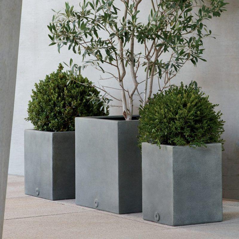 Trockenmauer Selber Machen Garten Terrasse Kiesweg: Beton Pflanzkübel Selber Machen