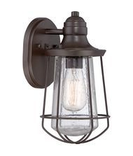 100 W  Quoizel MRE8406 Marine 1 Light Outdoor Wall Light Height:   11.50 inches Width:   6.00 inches Depth:   6.50 inches Weight:   3.00 pounds