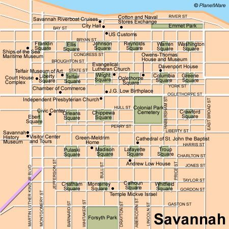 Savannah Map 11 TopRated Tourist Attractions in Savannah